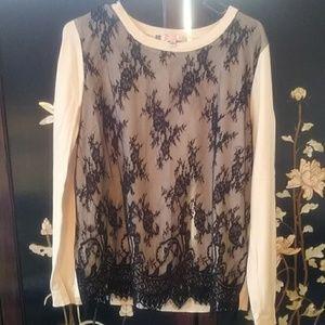 Jennifer Lopez Black Lace Shirt